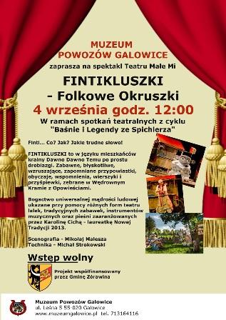 Spektakl Teatru Małe Mi - Fintikluszki