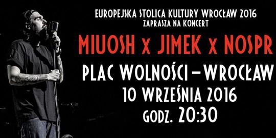 Koncert Miuosh x Jimek x NOSPR na pl. Wolności