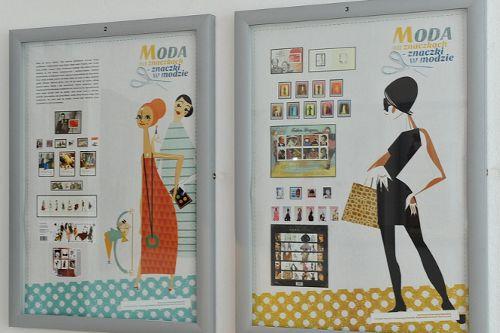 """Wystawa: """"MODA na znaczkach – znaczki w modzie"""""""