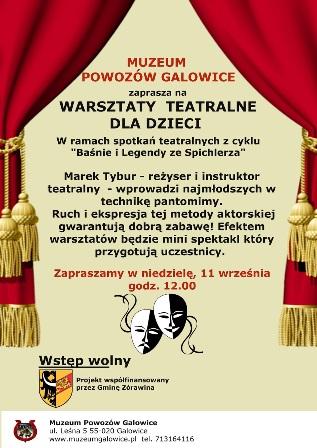 Warsztaty teatralne dla dzieci w Muzeum Powozów Galowice