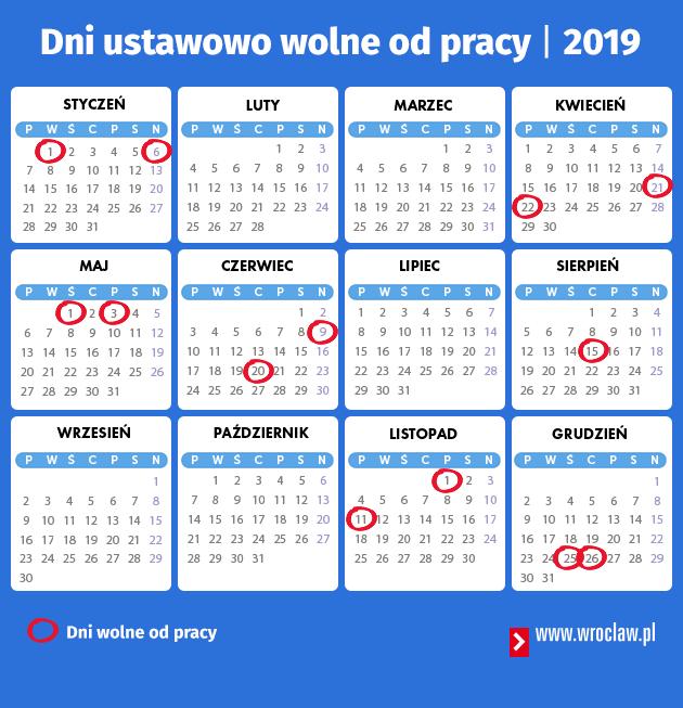 Dni Wolne Od Pracy W 2019