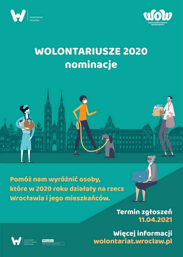 Wrocławskie Oblicza Wolontariatu - Wolontariusze 2020