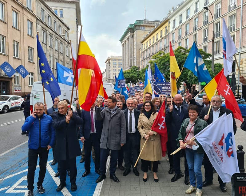 Protest samorządowców w Warszawie, 13 października, polski ROZKłada