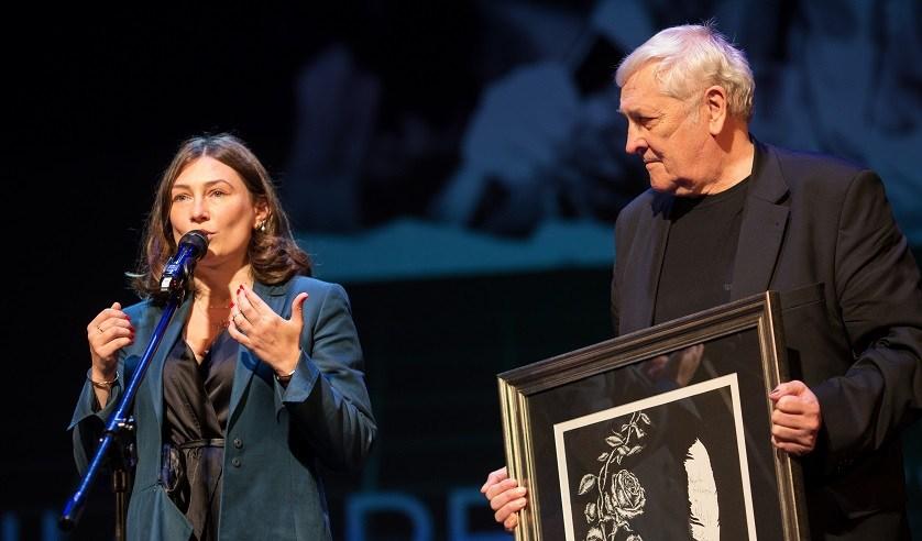 K. Babkina i B. Zadura na gali wręczania nagród Angelus 2021