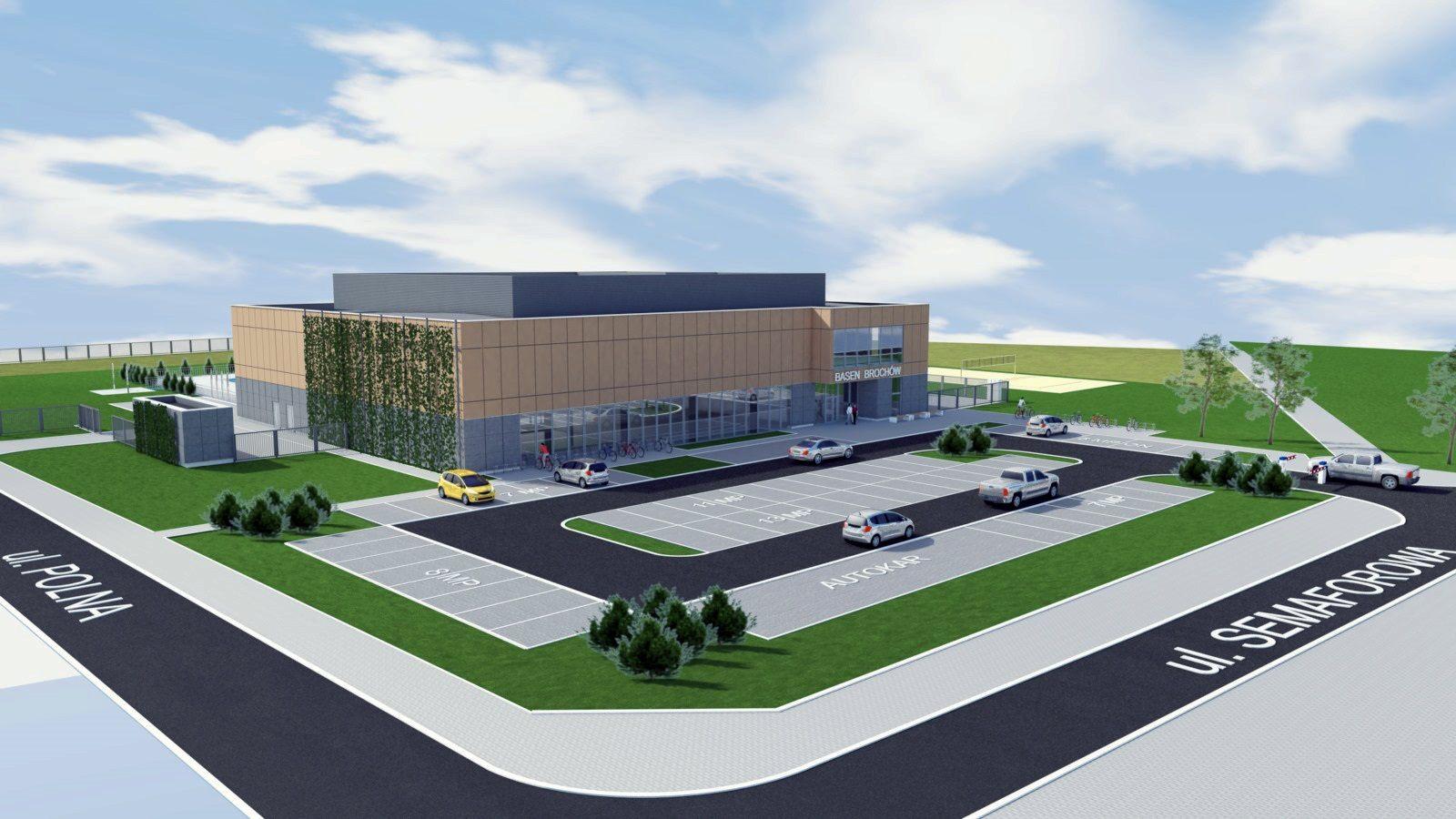 Budowa kompleksu basenów na Brochowie