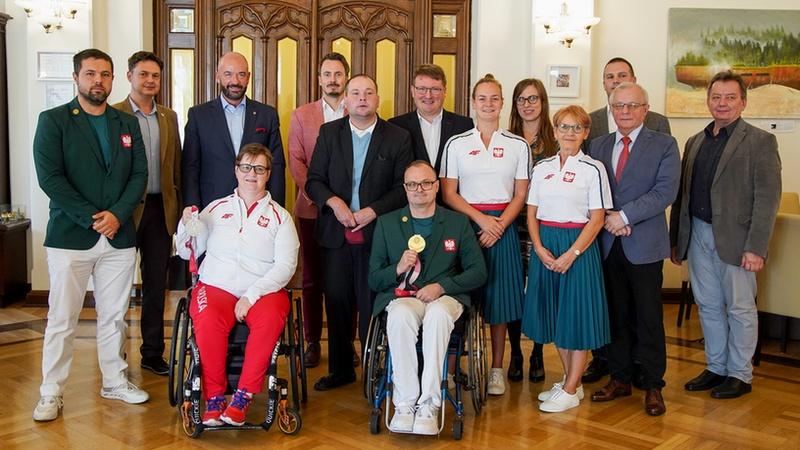 Medaliści paraolimpijscy z Tokio uhonorowani przez prezydenta