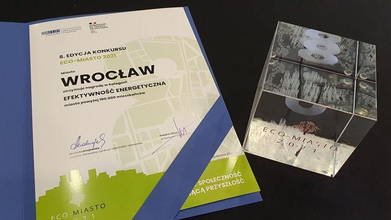 Eco-Miasto 2021 - nagroda dla Wrocławia